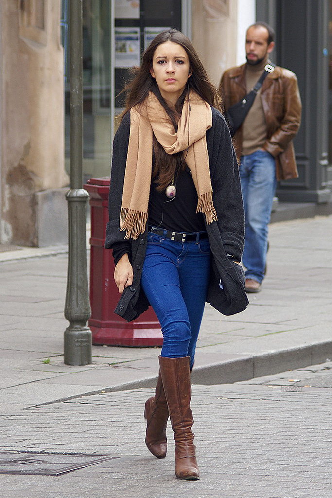Promo Girl in Jeans and Boots 1 | booster again | Flickr