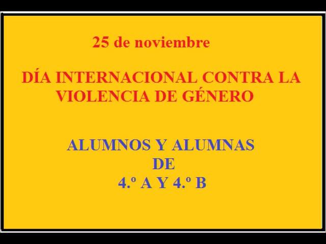 VIOLENCIA DE GÉNERO 4.º