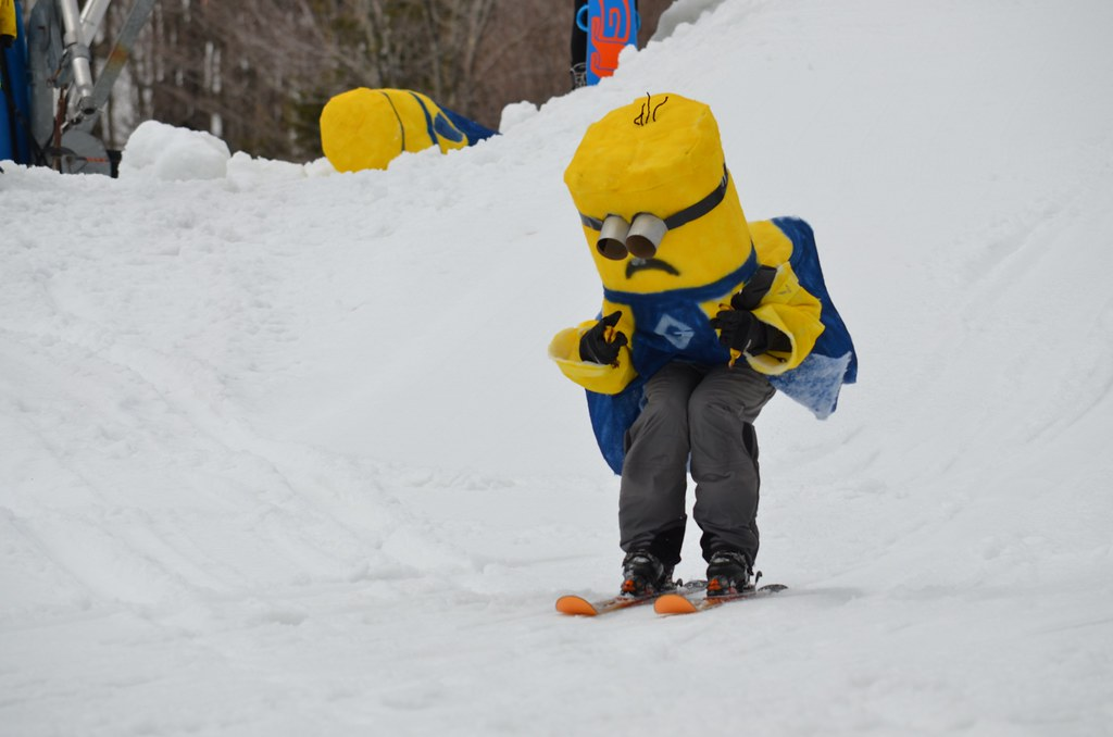 Minion On Skis At Okemo S Slush Cup Notice That He S