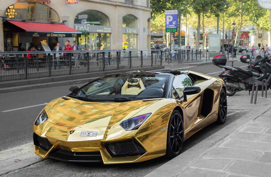 Lamborghini Aventador Roadster Aka The Goldventador