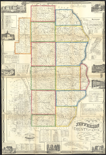 Map Of Jefferson County Ohio  From Actual Surveys
