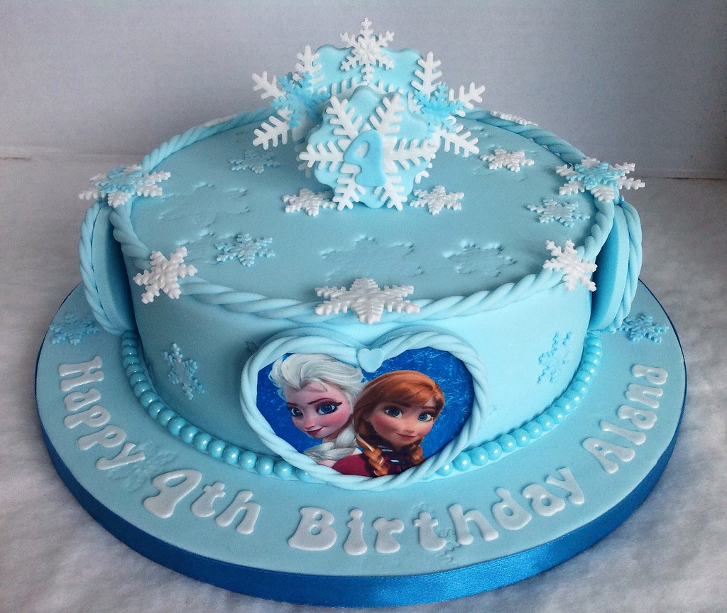 Frozen Sheet Birthday Cakes