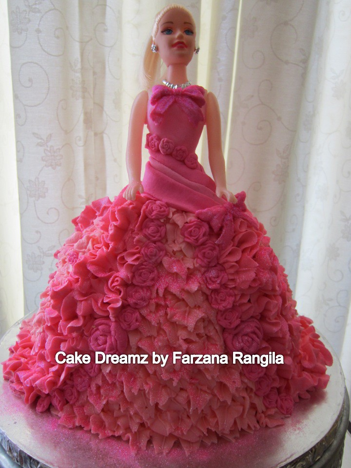 Latest Barbie Cake Design : barbie doll cake (buttercream) Farzana Rangila Flickr