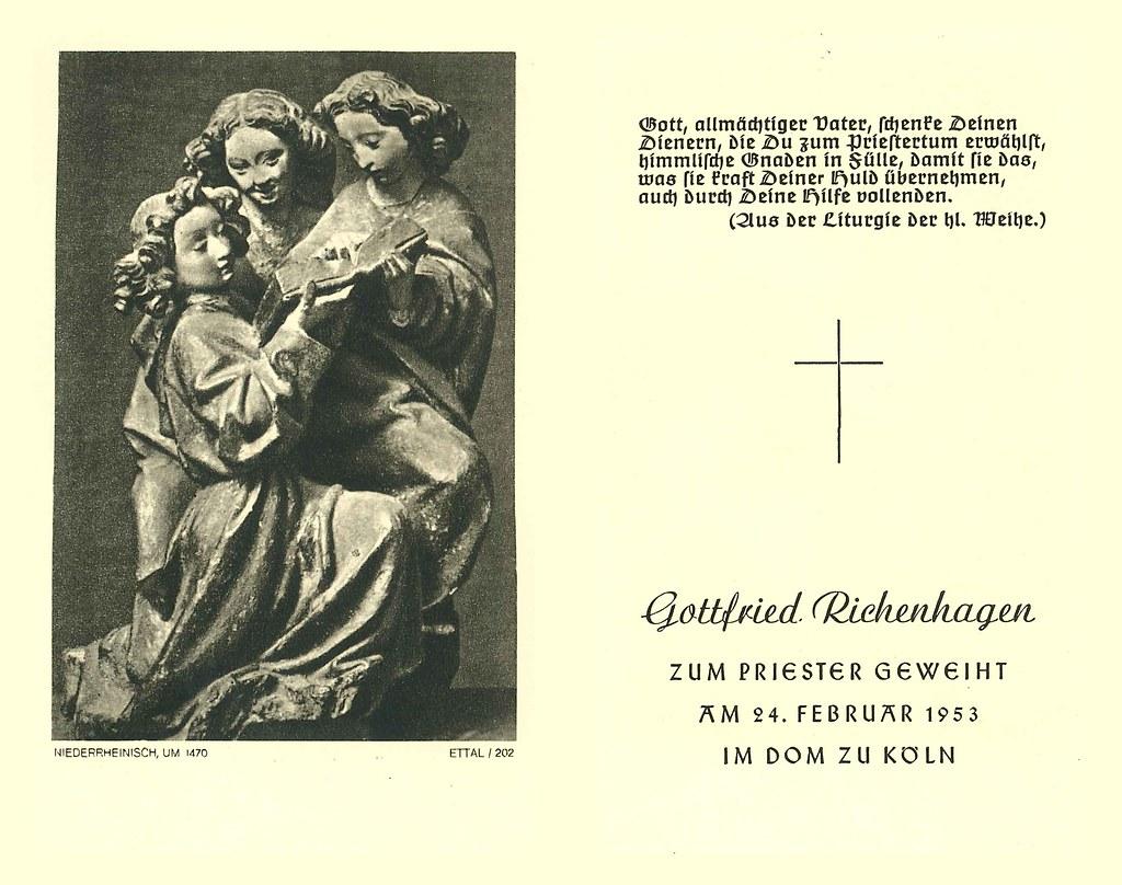 Priesterweihe Richenhagen, Gottfried 24.02.1953