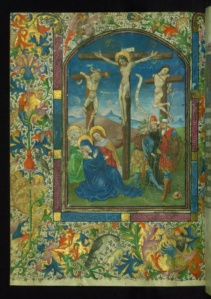 book of hours  use of rome   crucifixion  walters manuscri