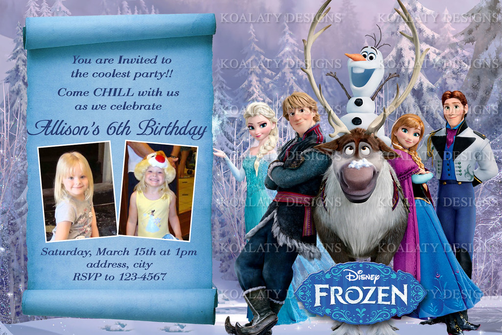 personalized frozen birthday invitations Intoanysearchco