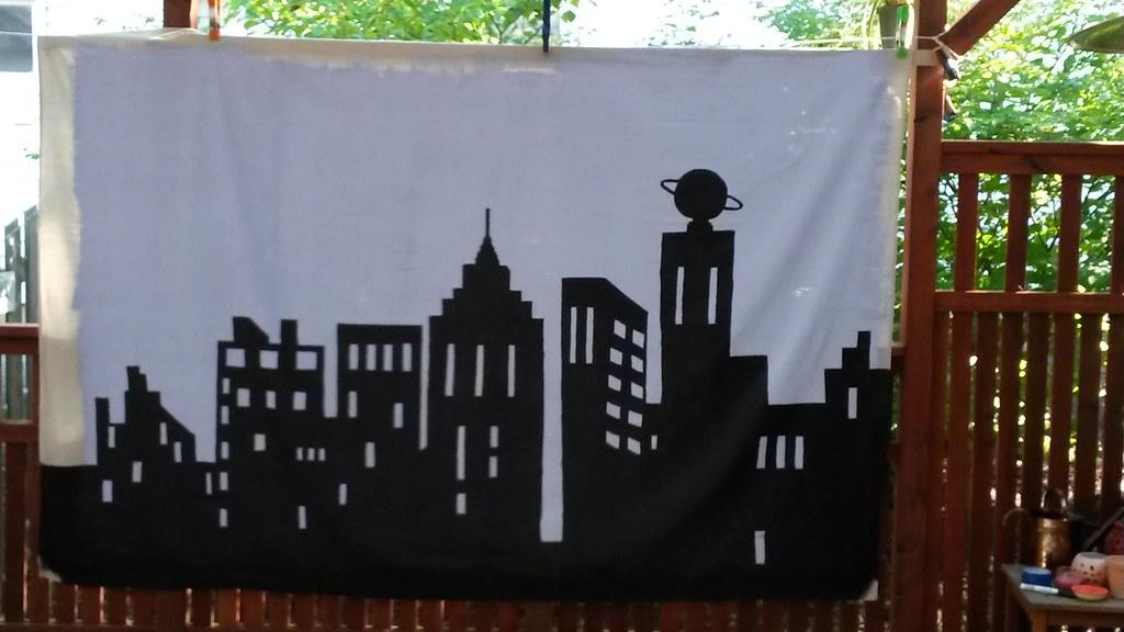 Gotham City Party Backdrop Wip Gotham City Backdrop