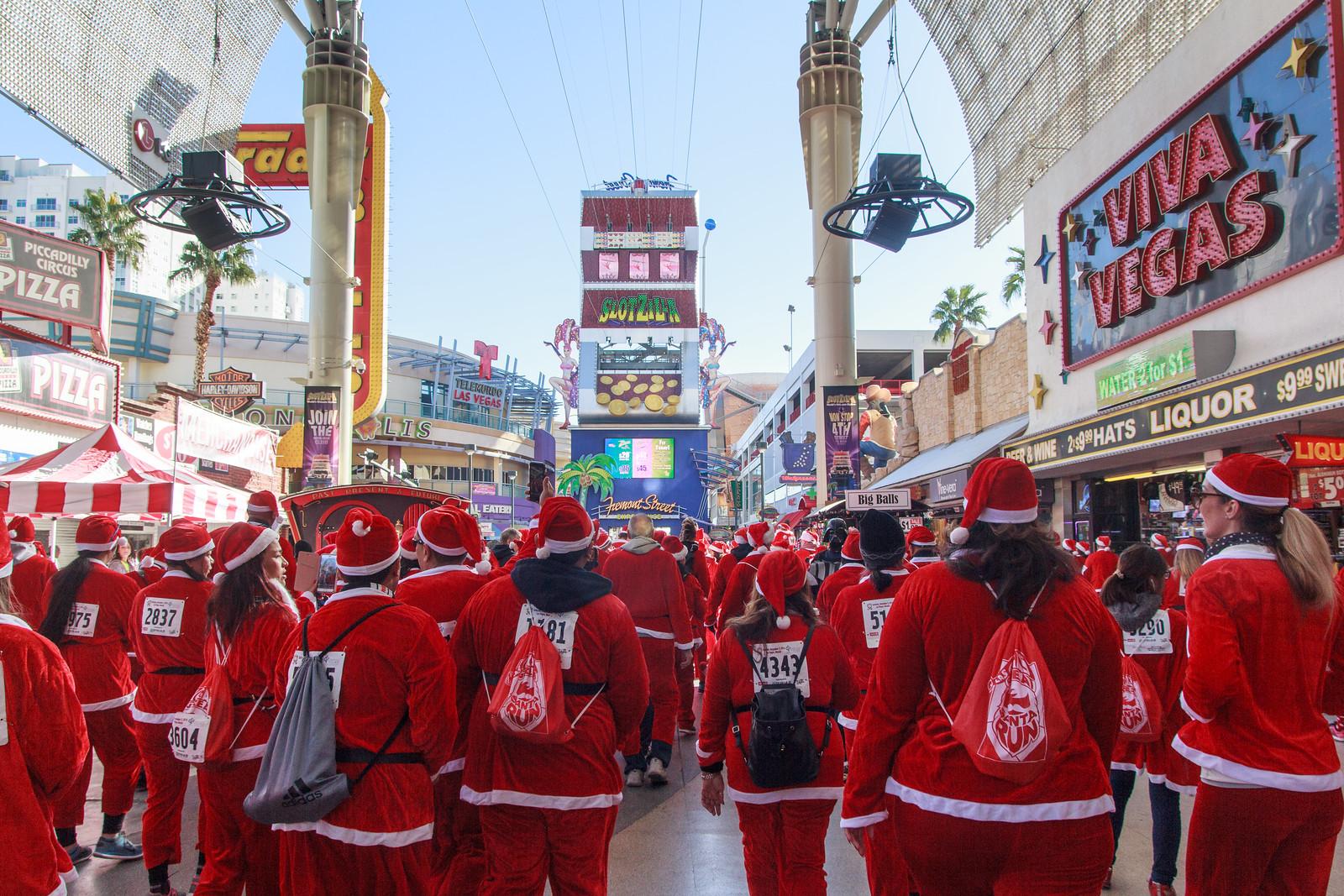 Fremont Street Santas