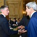Secretary Kerry Greets British Foreign Secretary Hammond Before Paris Meeting Focused on Gaza Cease-Fire