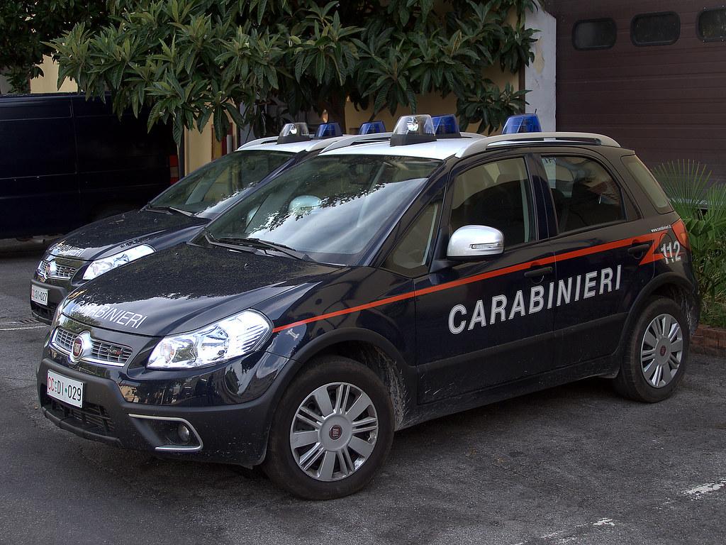 Carabinieri Italian Police Fiat Sedici Del 6 176 Btg Cc