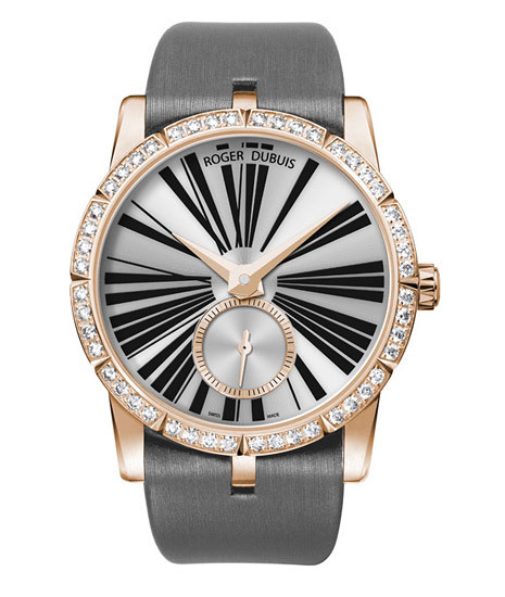 Excalibur42 series rose gold automatic diamond watch