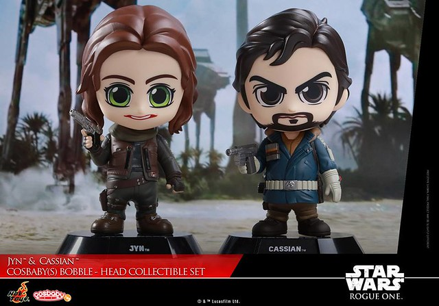 Jyn & Cassian Cosbaby Set by Hot Toys