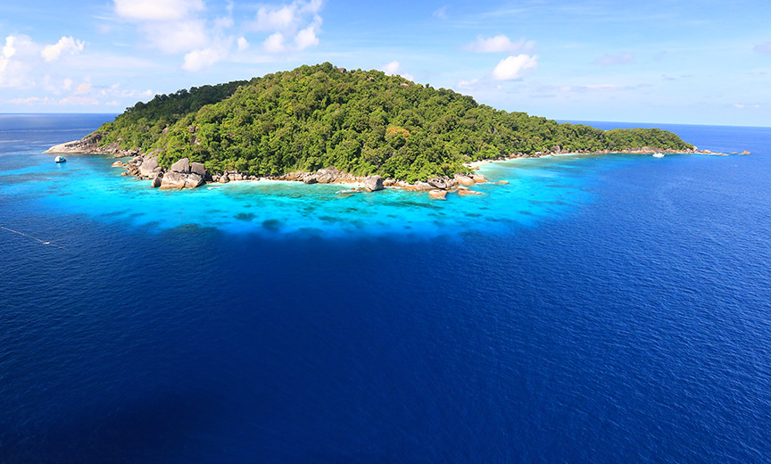 Aerial view of Koh Payu, Similan Island 7