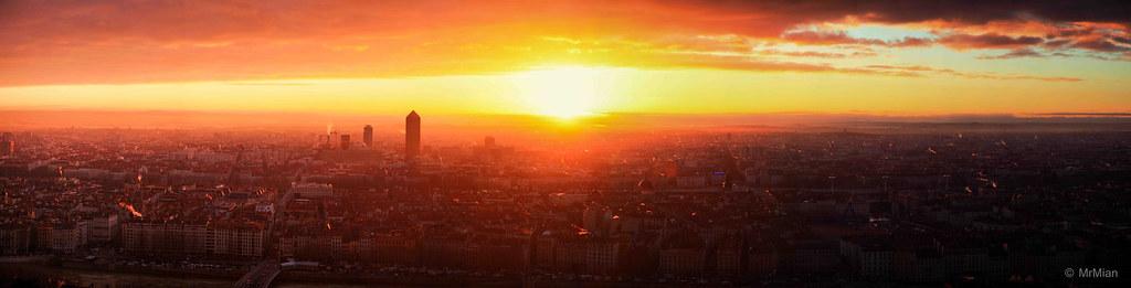 Lever de soleil lyon ding flickr - Du lever du soleil jusqu a son coucher ...