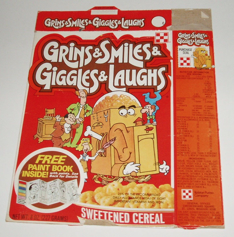 Old Vintage 70's Ralston GSGL Paint Book Cereal Box