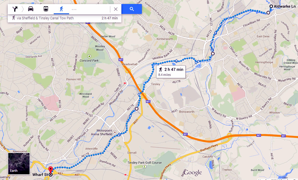 Maps Multiple Stops >> Rotherham to Sheffield canal walk..   (Map from Google) We c…   Flickr