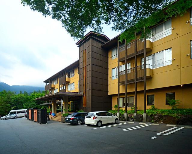 Fachada del hotel Mount View Hakone, uno de los mejores sitios donde dormir en un Ryokan