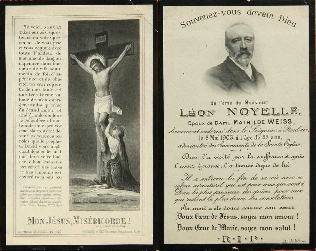 Totenzettel Noyelle, Leon † 06.05.1903