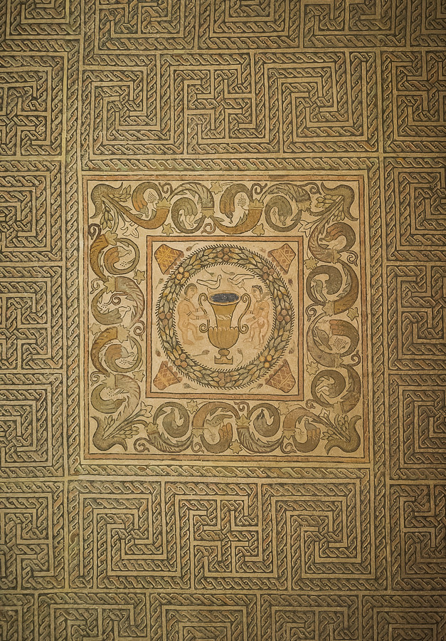 Mosaico romano de ramalete museo de navarra pamplona iru for Mosaico romano