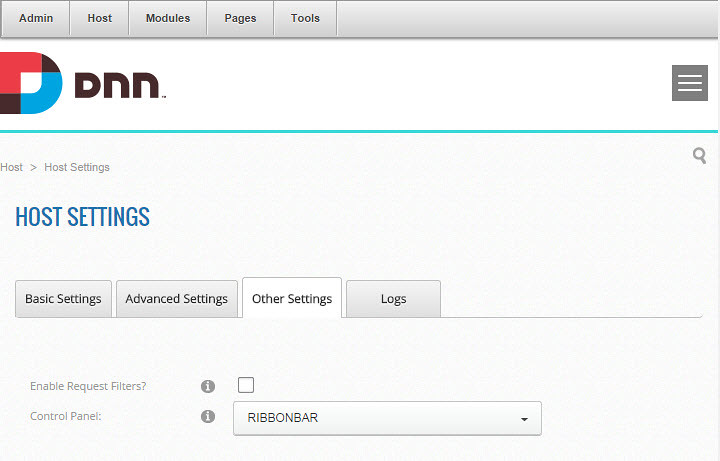 how to change controlbar to ribbonbar in dnn