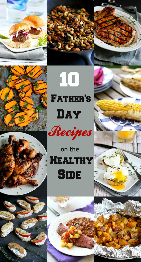 10 Father's Day Recipes on the Healthy Side...Treat your dad this Father's Day! | cookincanuck.com