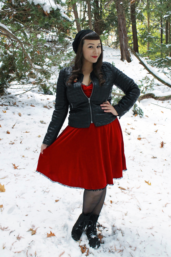biker jacket christmas outfit