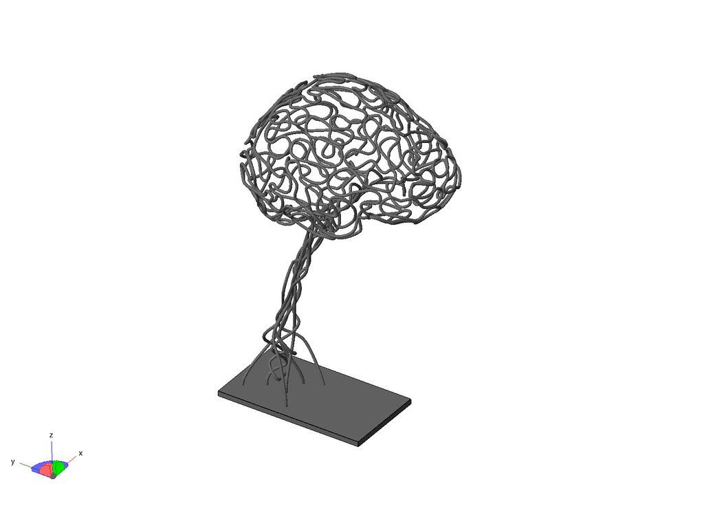 3D Brain Sculpture STL model | STL model that was used to ...