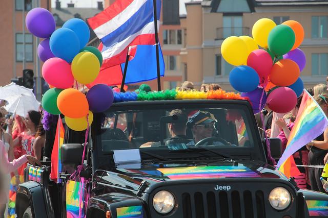 Gay parade jeep