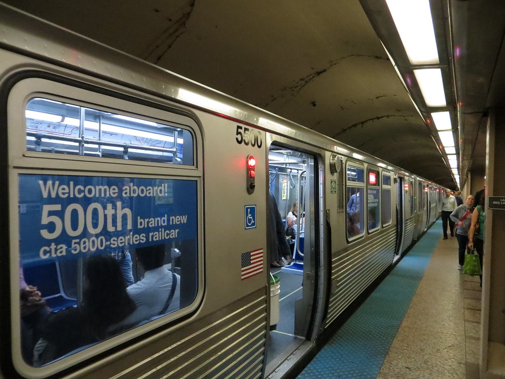 500th 5000 Series Cta Railcar Keep An Eye Out For The
