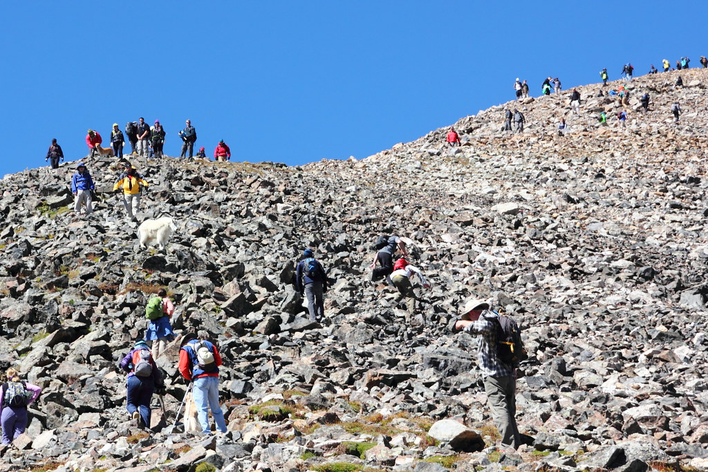 Summiting Quandary Peak Quandary Peak One Of Colorado S