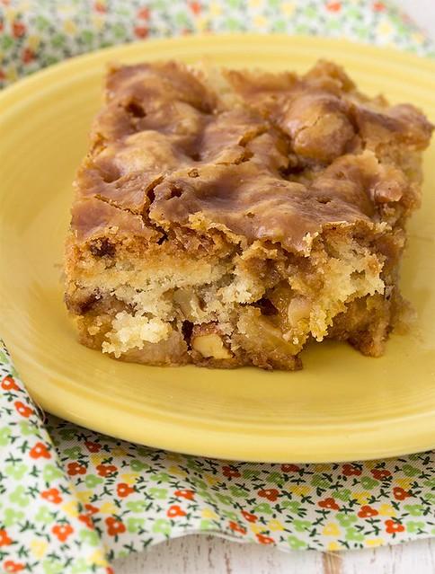 Pastel de manzana y toffee