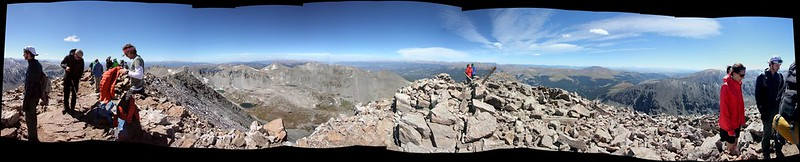 Panorama from Top of Quandary Peak