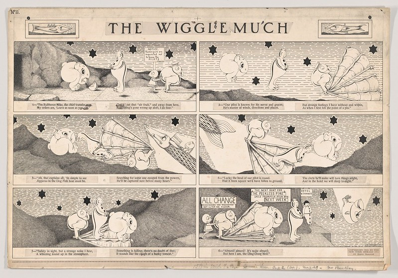 "Herbert E. Crowley - Dummy for ""The Wiggle Much"" Comic Strip, Number 11 (published by The New York Herald, May 29, 1910)"