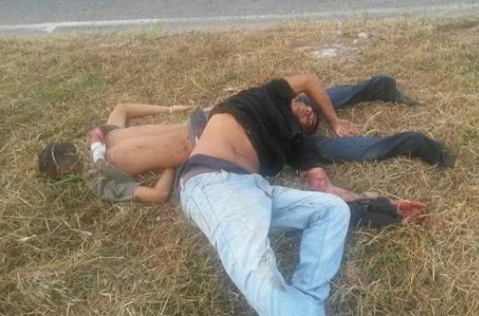 2 cadáveres fueron abandonados en la autopista que conduce a Upata sentido San Félix–Upata
