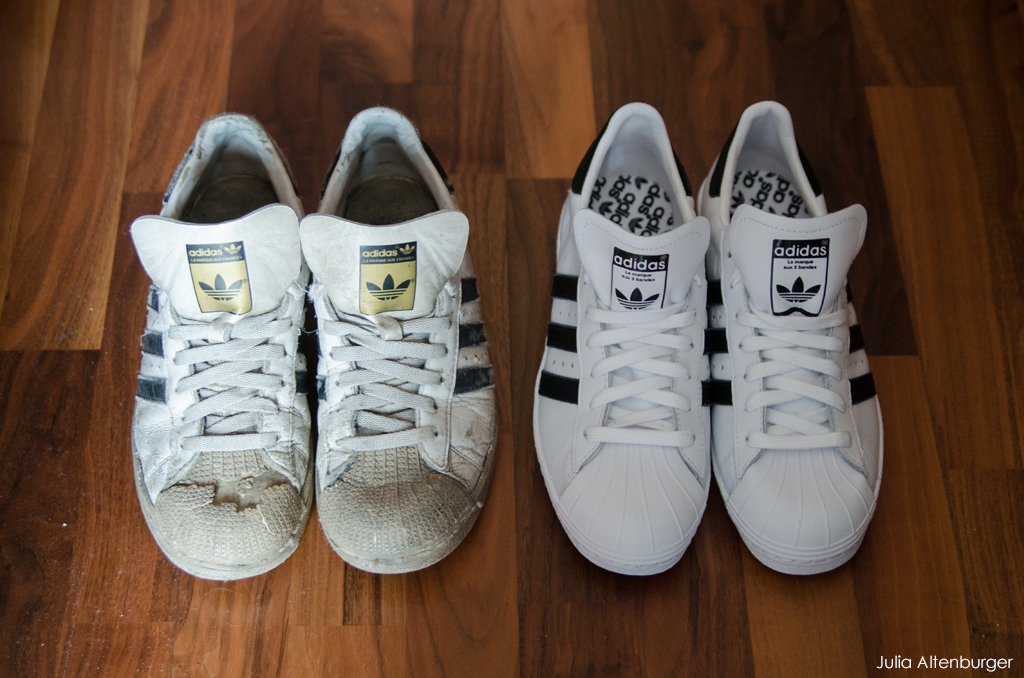 old adidas superstar shoe