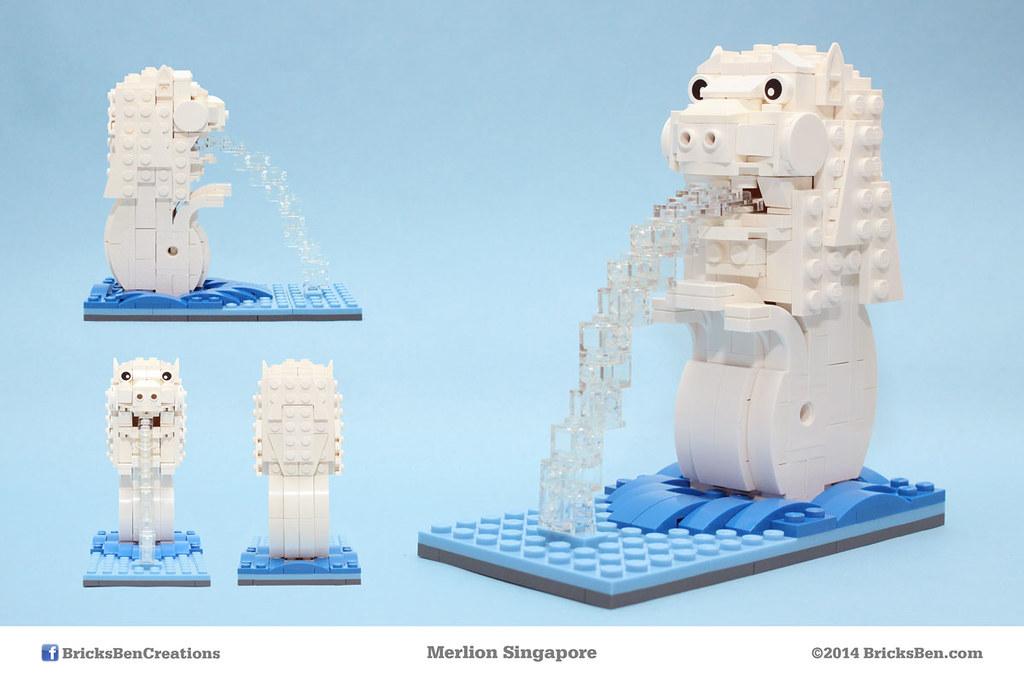 BricksBen - LEGO Merlion Singapore Icon - Mug Shots | Flickr.