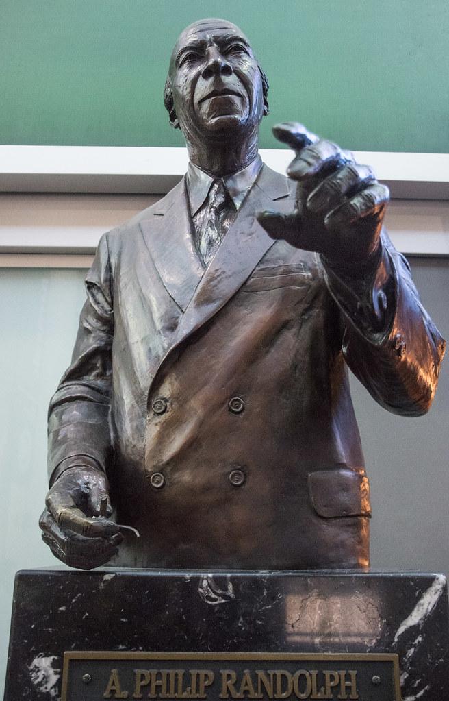 Sleeping In Car >> A. Philip Randolph, Civil Rights Activist -- Statue in Uni ...