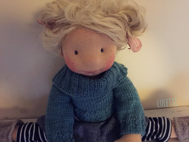 "Thelma ~ a 17"" Natural fiber doll by Luletti"