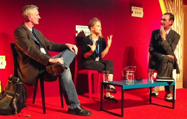 Edinburgh International Book Festival 2014 - Mike Carey Isabel Greenberg & Stuart Kelly 03