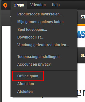 origin offline modus
