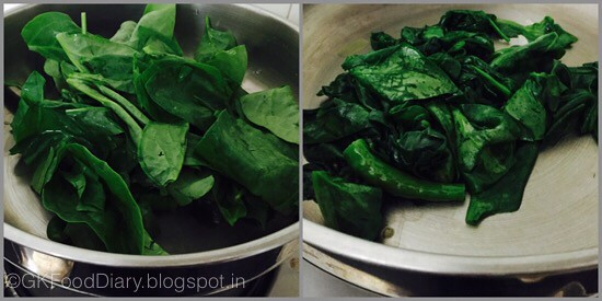 Palak Paneer - preparation step 2