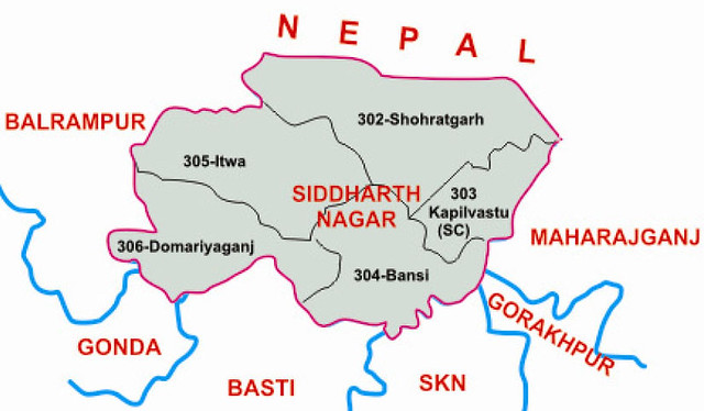Siddharthnagarr district Uttar Pradesh Election 2017
