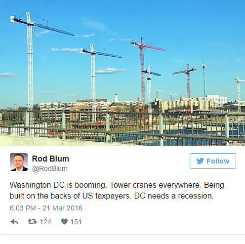 Iowa Congressman Ron Blum isn't happy with DC's boom in real estate development