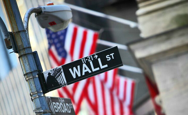 Wall Street US Flag investment papers October 2016