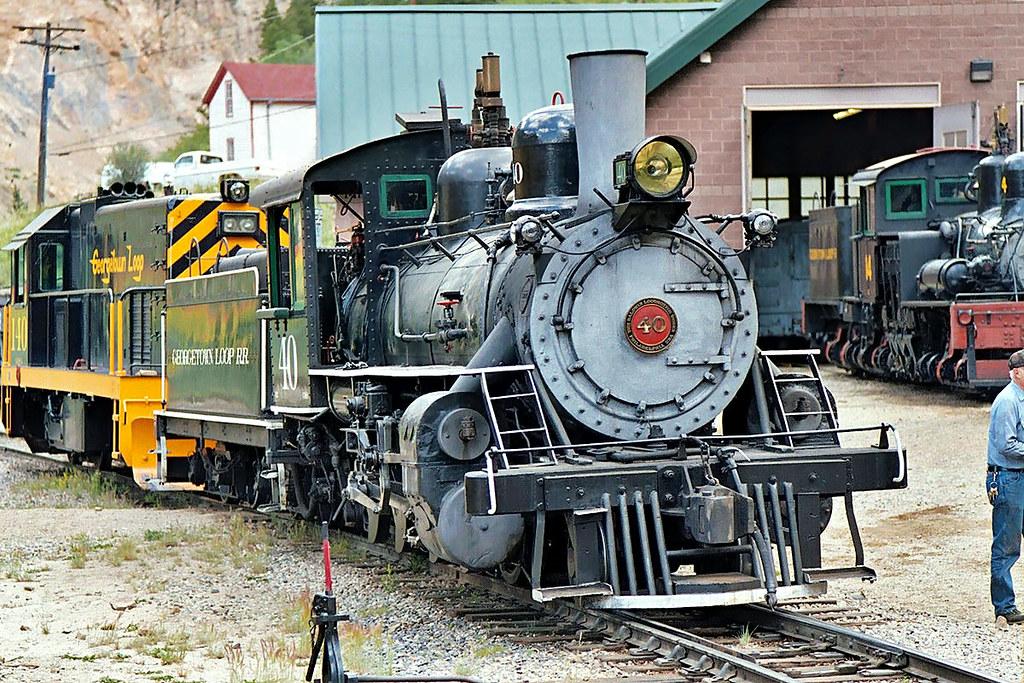 Locomotive # 40, Georgetown Loop Railroad | 40 sits on a sid ...