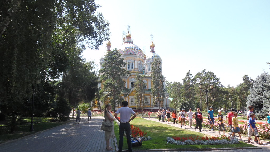Russian Orhodox Cathedral in Panfilov Park, Almaty