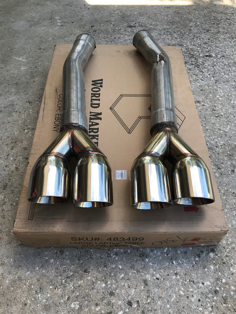 Muffler Delete Used Less Than 2000 Miles EBay Staggered Dual Wall Tips25 In
