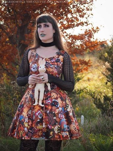 halloween print dress plus size gloomth