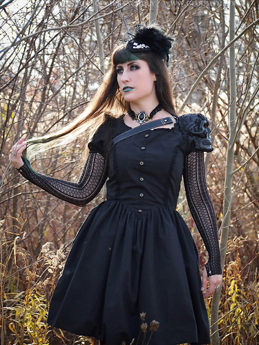 gothic dress with basque waist
