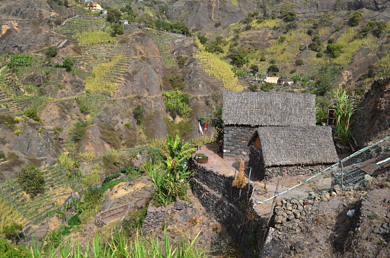 Thatched huts, Santo Antao, Cape Verde